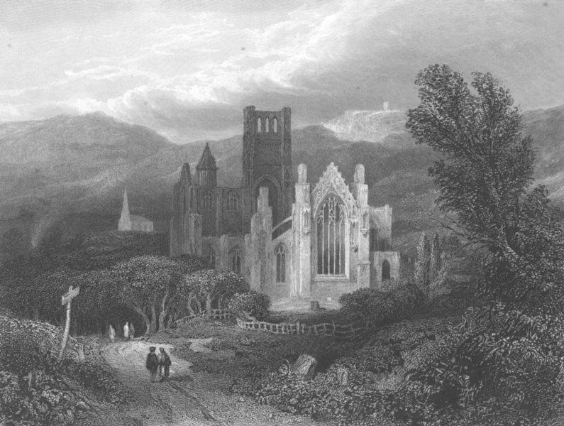Associate Product SCOTLAND. Melrose Abbey, Roxburgshire 1836 old antique vintage print picture