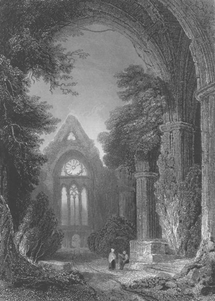 Associate Product SCOTLAND. Newby Abbey, Dumfrieshire 1836 old antique vintage print picture