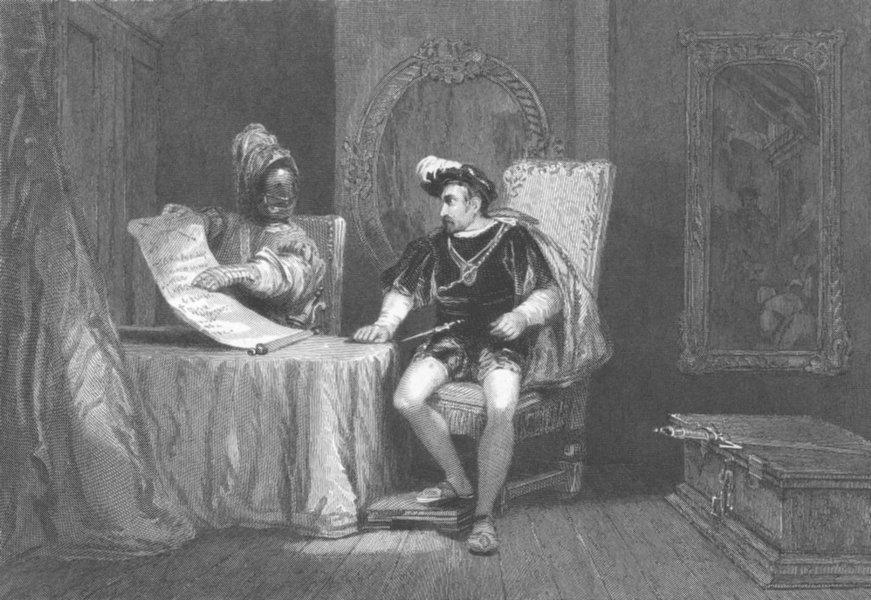 Associate Product VEHME GERICHTE. Albert Gierstein, Duke of Burgundy 1836 old antique print