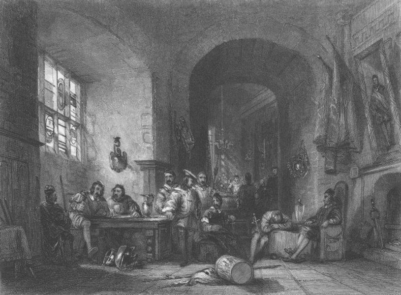 Associate Product FEAST. Quenten Durward enrolment, Scottish Archers 1836 old antique print