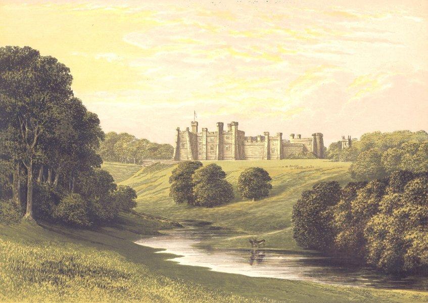 Associate Product BRANCEPETH CASTLE, Durham, Durham (Viscount Boyne) 1894 old antique print