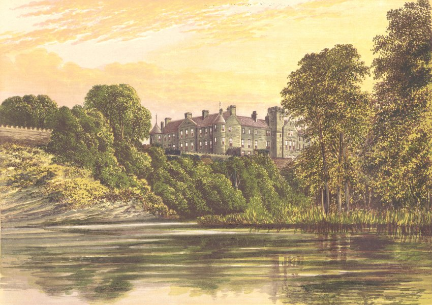 Associate Product BRECHIN CASTLE, Brechin, Forfarshire (Earl of Dalhousie) 1894 old print