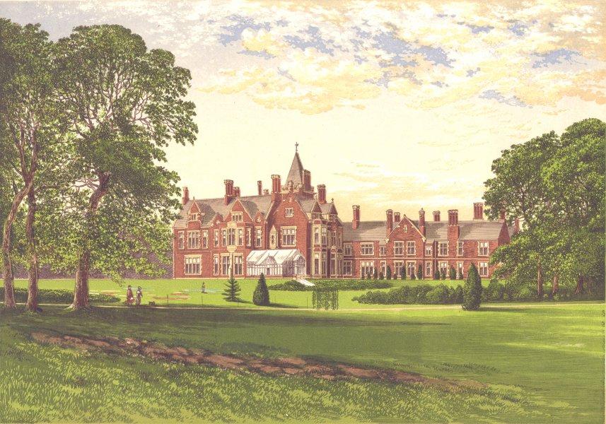 Associate Product BAGSHOT PARK, Surrey, Windsor, Berkshire (Royal residence) 1894 old print