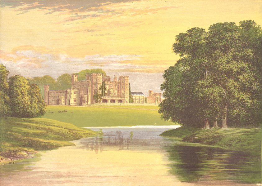Associate Product SUNDORNE CASTLE, Shrewsbury, Shropshire (Corbet-Pigott) 1894 old antique print