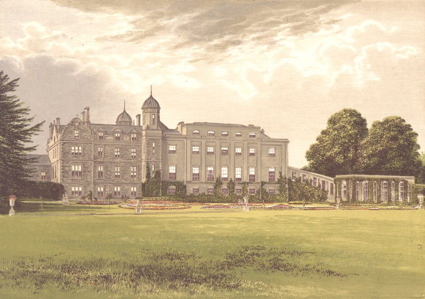 Associate Product EASTWELL PARK, Ashford, Kent (Earl of Winchilsea and Nottingham) 1894 print