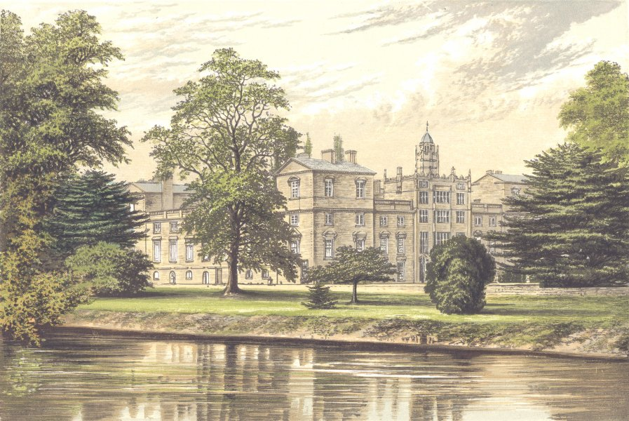 Associate Product WILTON HOUSE, Wilton, Wiltshire (Earl of Pembroke and Montgomery) 1890 print