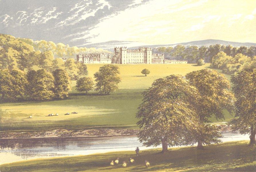Associate Product FLOORS CASTLE, Kelso, Roxburghshire (Duke of Roxburghe) 1890 old antique print