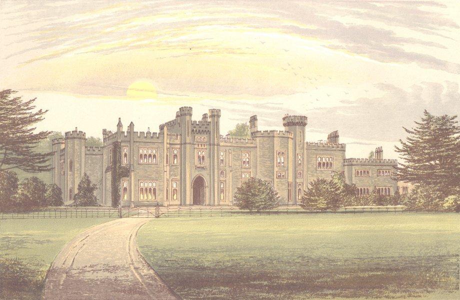 GARNSTONE, Weobley, Herefordshire (Peploe) 1890 old antique print picture