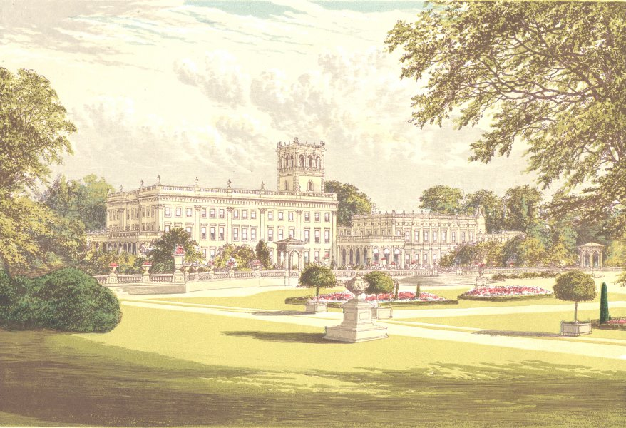 Associate Product TRENTHAM HALL, Newcastle-under-Lyme, Staffordshire (Duke of Sutherland) 1890
