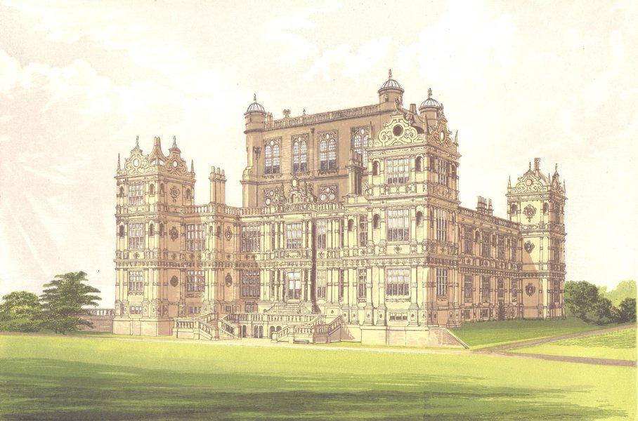 Associate Product WOLLATON HALL, Nottingham, Nottinghamshire (Lord Middleton) 1890 old print