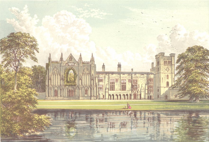 Associate Product NEWSTEAD ABBEY, Mansfield, Nottinghamshire (Webb) 1890 old antique print