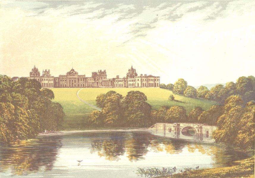 Associate Product BLENHEIM, Woodstock, Oxfordshire (Duke of Marlborough) 1890 old antique print
