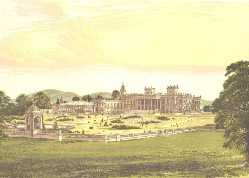 Associate Product WHITLEY COURT, Droitwich, Worcestershire (Earl of Dudley) 1890 old print