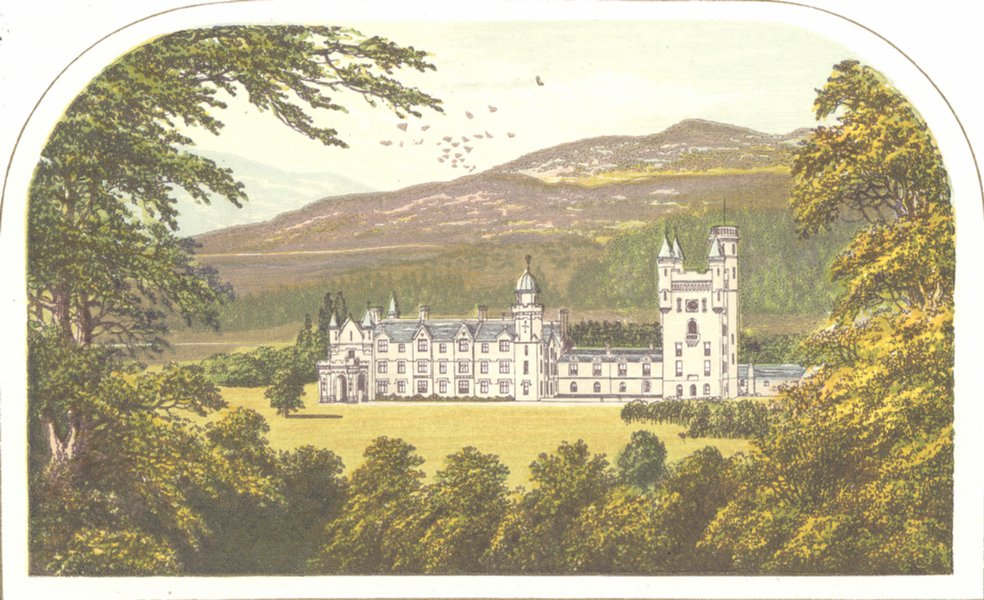 Associate Product BALMORAL CASTLE , Royal private residence 1890 old antique print picture