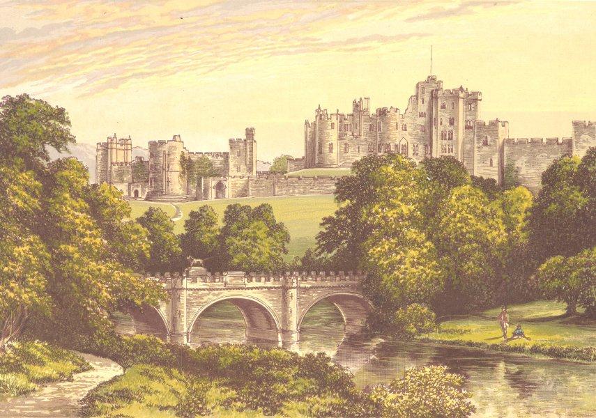 Associate Product ALNWICK CASTLE, Alnwick, Northumberland (Duke of Northumberland) 1890 print