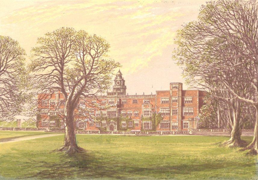 Associate Product HATFIELD HOUSE, Hatfield, Hertfordshire. Marquis Salisbury 1890 old print