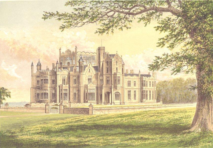 Associate Product STOURTON, Knaresborough, Yorkshire. Lord Mowbray & Stourton 1890 old print