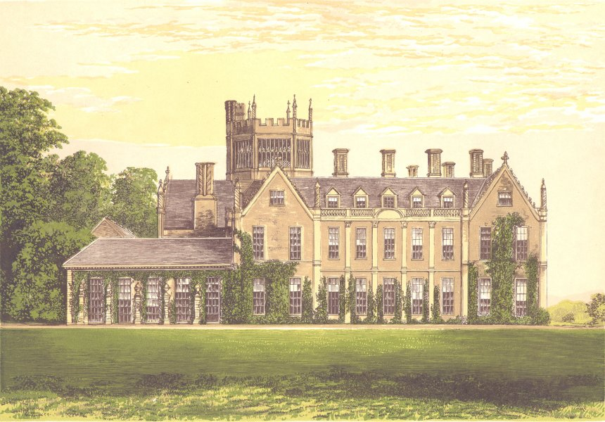 Associate Product MELBURY HOUSE, Dorchester, Dorsetshire (Earl of Ilchester) 1890 old print