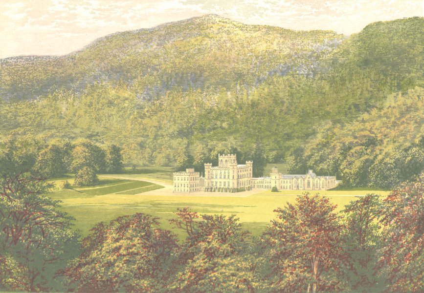 Associate Product TAYMOUTH CASTLE, Aberfeldy, Perthshire (Marquis of Breadalbane) 1890 old print