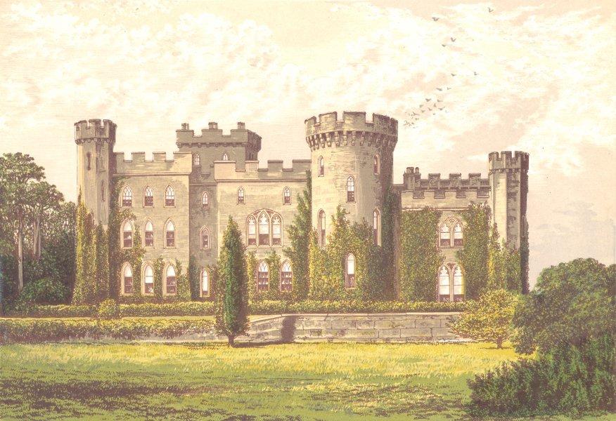 Associate Product CHOLMONDELEY CASTLE, Malpas, Cheshire (Marquis of Cholmondeley) 1890 old print