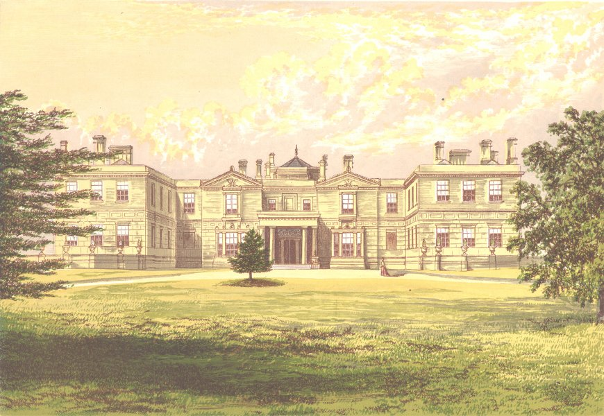 Associate Product SWITHLAND HALL, Mountsorrell, Leicestershire (Earl of Ellesborough) 1890 print