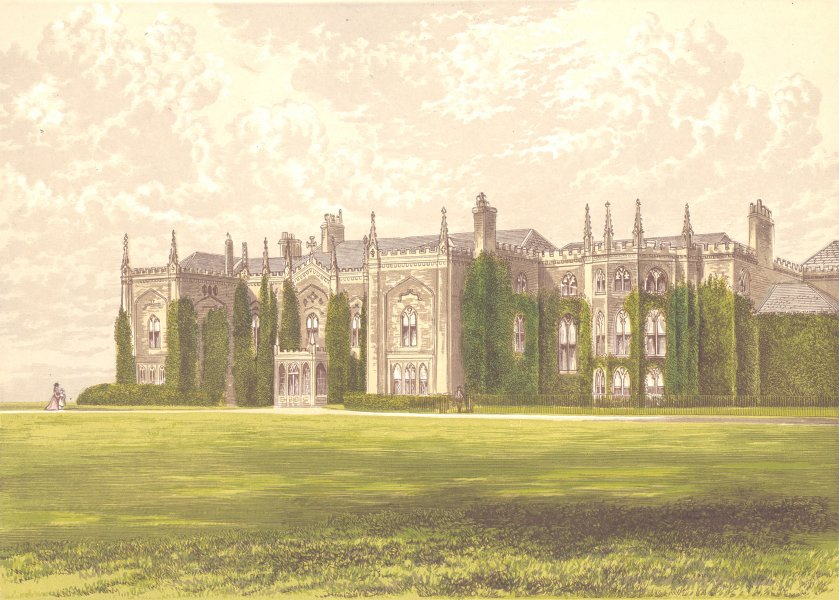 Associate Product COMBERMERE ABBEY, Whitchurch, Shropshire (Visc. Combermere) 1890 old print