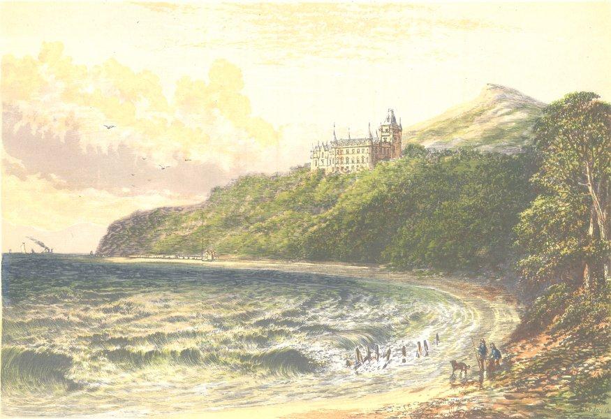 Associate Product DUNROBIN CASTLE, Sutherlandshire (Duke of Sutherland) 1890 old antique print