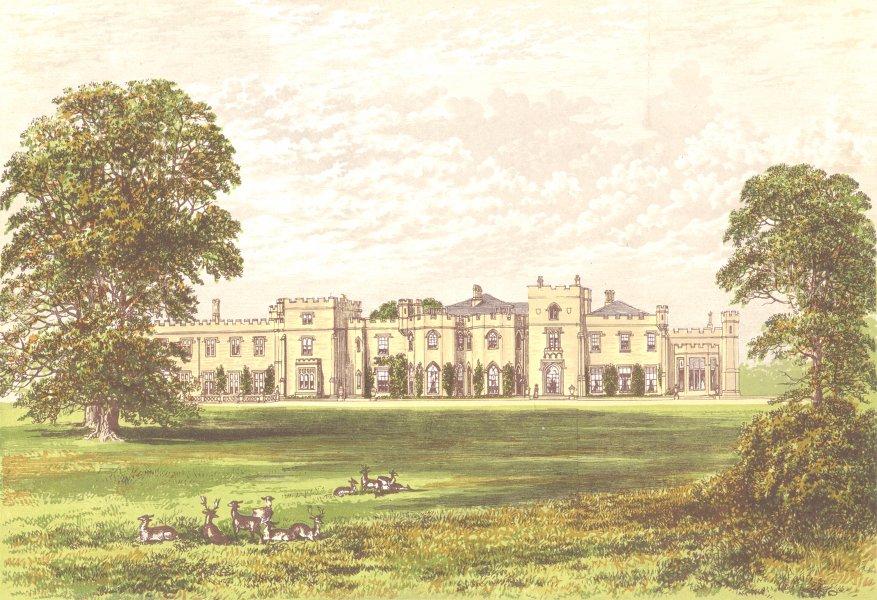 Associate Product PANSHANGER PARK, Hertford, Hertfordshire (Earl Cowper) 1890 old antique print
