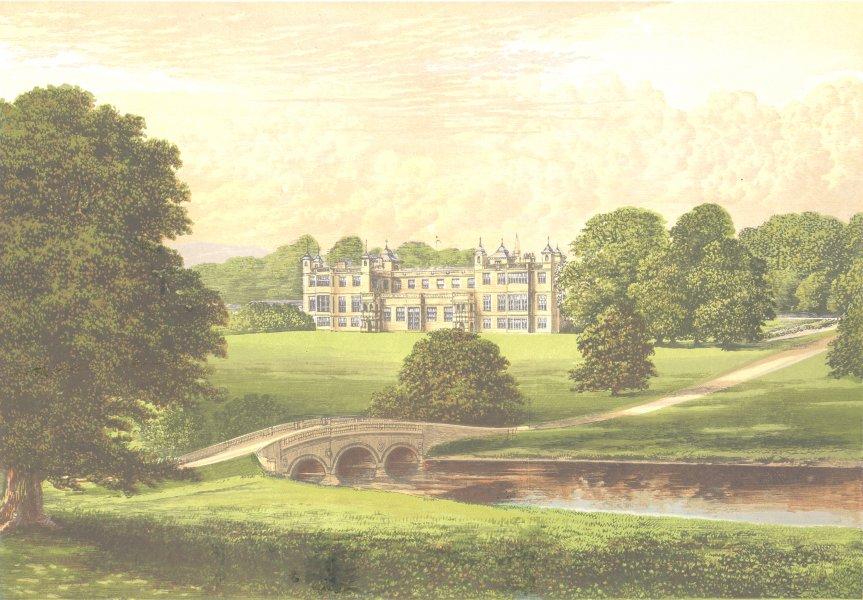 Associate Product AUDLEY END, Saffron Walden, Essex (Lord Braybrooke) 1890 old antique print