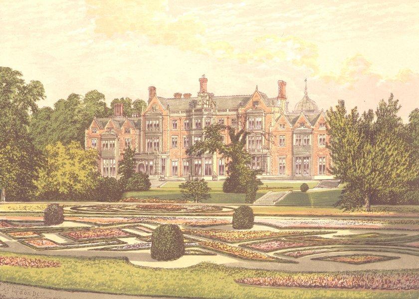Associate Product SANDRINGHAM, Lynn, Norfolk (His Royal Highness the Prince of Wales) 1891 print