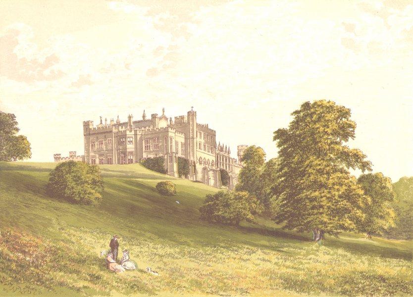 Associate Product LAMBTON CASTLE, Durham (Earl of Durham) 1891 old antique vintage print picture