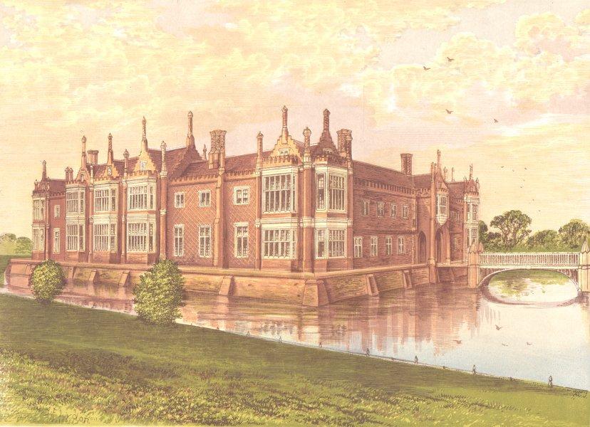 Associate Product HELMINGHAM HALL, Debenham, Suffolk (Baron Tollemache) 1891 old antique print