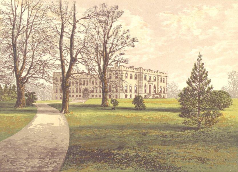 Associate Product KIMBOLTON CASTLE, Kimbolton, Huntingdonshire (Duke of Manchester) 1891 print