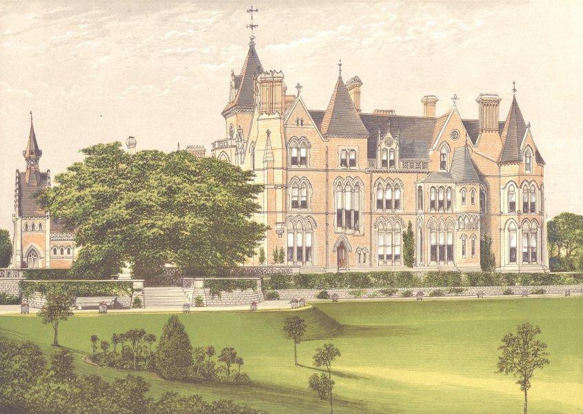 BESTWOOD LODGE, Nottingham, Nottinghamshire (Duke of St. Albans) 1891 print