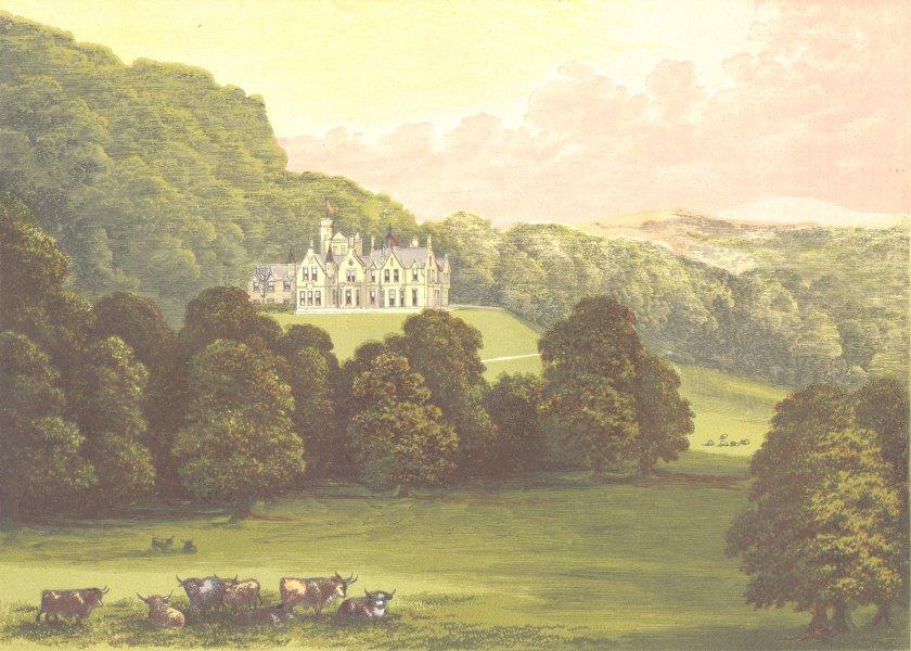 Associate Product PHILIPHAUGH, Selkirk, Selkirkshire (Murray, Baronet) 1891 old antique print