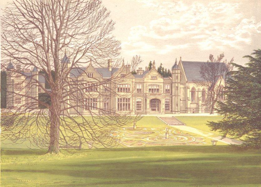 Associate Product EXTON HOUSE, Oakham, Rutlandshire (Earl of Gainsborough) 1892 old print