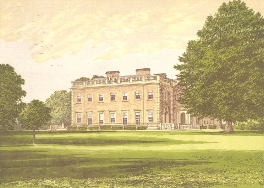 Associate Product PEPER HAROW, Godalming, Surrey (Viscount Midleton) 1892 old antique print