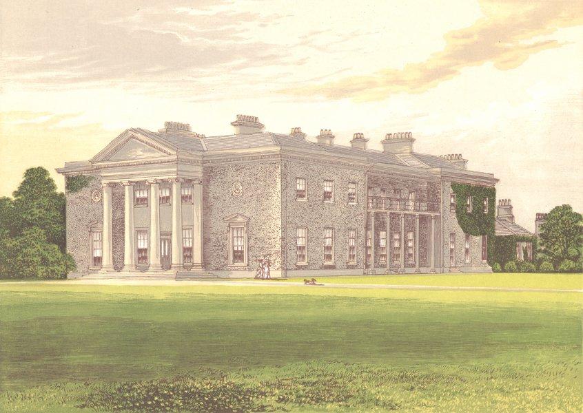 BISHOPS COURT, Straffan, County Kildare, Ireland (Earl of Clonmell) 1892 print