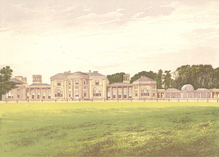 Associate Product HEATON PARK, Prestwich, Lancashire (Earl of Wilton) 1892 old antique print