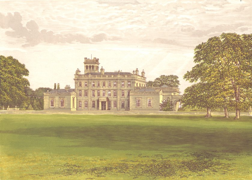 Associate Product LOCKO PARK, Derby, Derbyshire (Drury-Lowe) 1892 old antique print picture