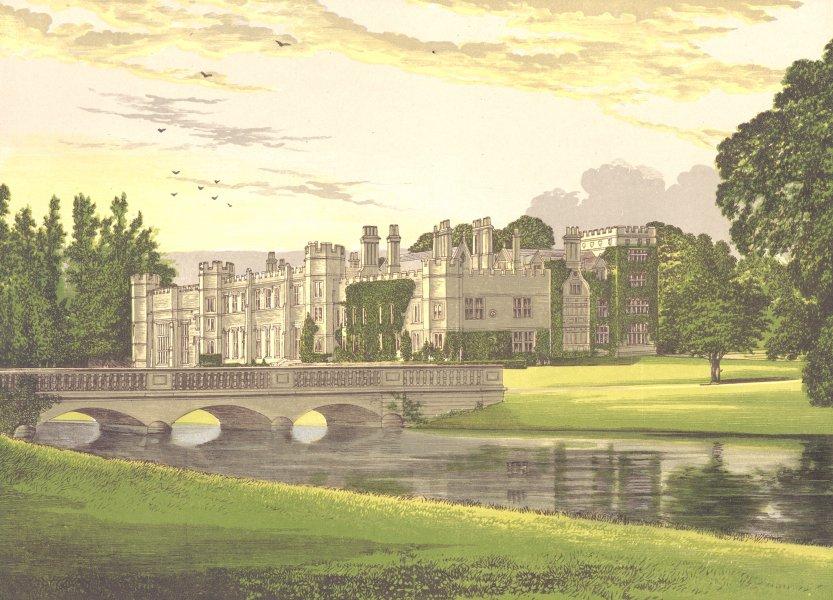 Associate Product DEENE PARK, Rockingham, Northamptonshire (Countess of Cardigan) 1892 old print