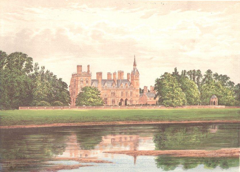 Associate Product KELHAM HALL, Newark-on-Trent, Notts (Manners-Sutton) 1892 old antique print