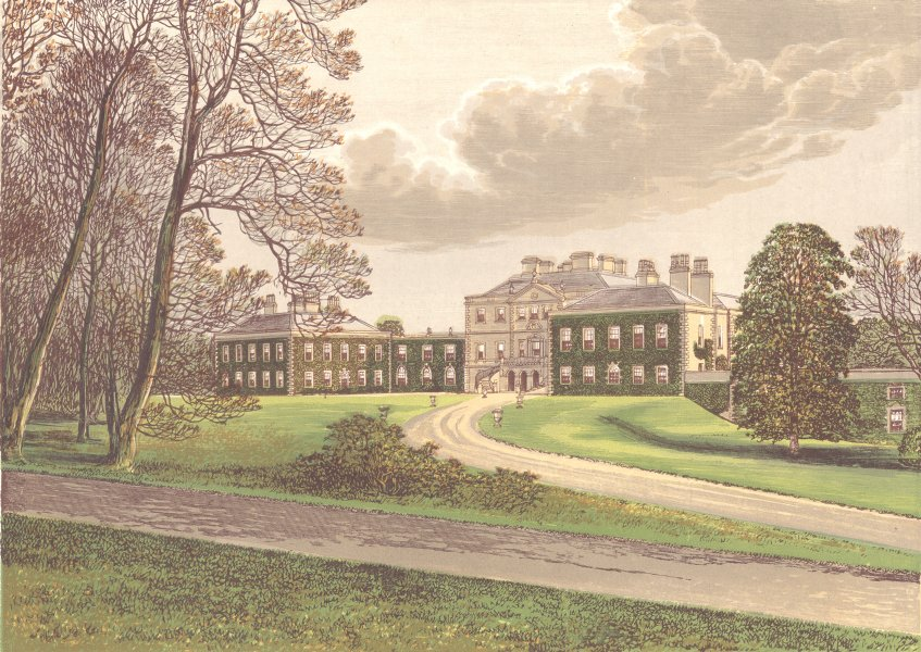 Associate Product HADDO HOUSE, Aberdeenshire (Earl of Aberdeen) 1892 old antique print picture
