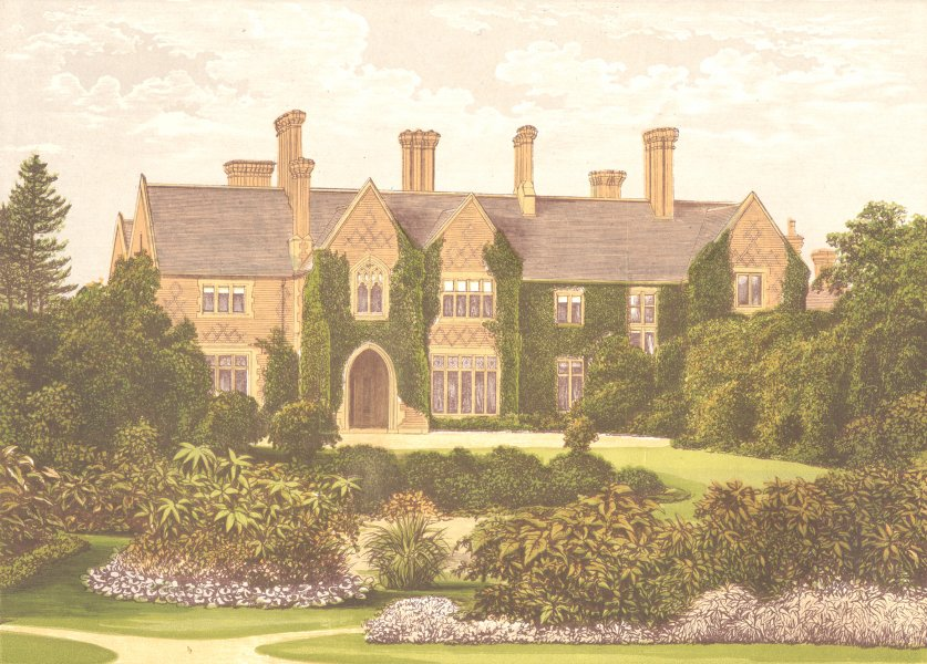 Associate Product OXLEY MANOR, Wolverhampton, Staffordshire (Staveley-Hill) 1892 old print