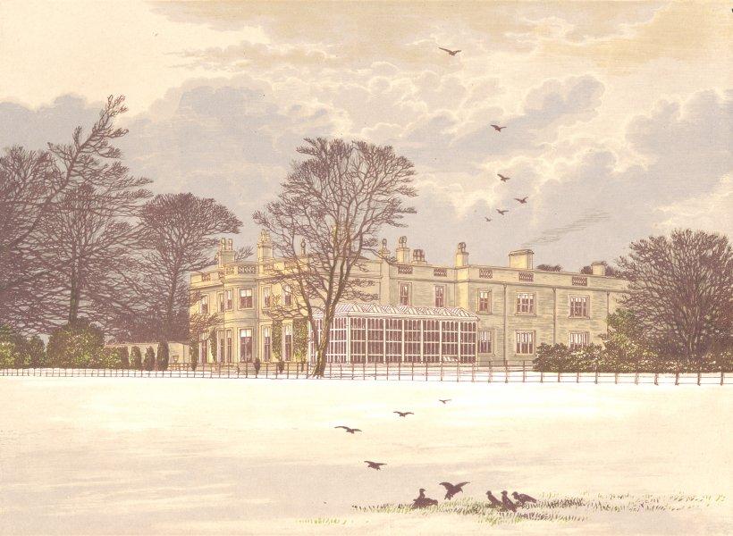 Associate Product EDNASTON LODGE, Derby, Derbyshire (Kingdon) 1892 old antique print picture