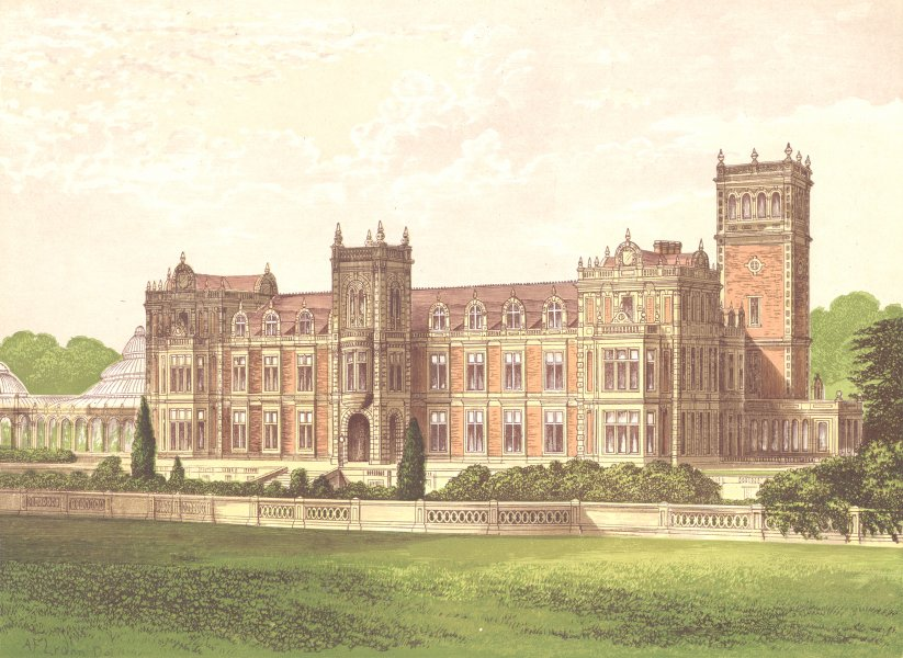 Associate Product SOMERLEYTON, Lowestoft, Suffolk (Crossley, Baronet) 1892 old antique print