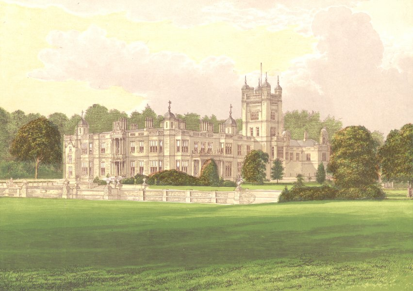 Associate Product UNDERLEY HALL, Kirkby Lonsdale, Westmorland.Earl of Bective 1892 old print
