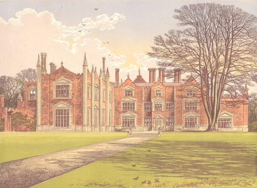 WITCHINGHAM HALL, Reepham, Norfolk (Viscount Canterbury) 1892 old print
