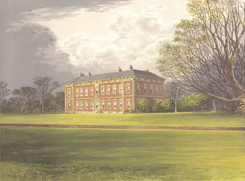 Associate Product BENINGBROUGH HALL, York, Yorkshire (Dawnay) 1893 old antique print picture