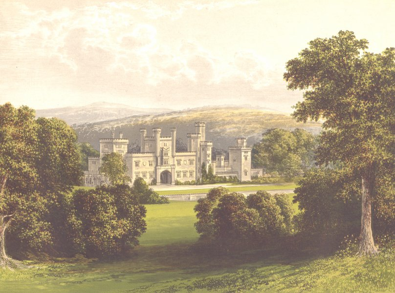 Associate Product RAVENSWORTH CASTLE, Ayton Bank, Durham. Earl of Ravensworth 1893 old print